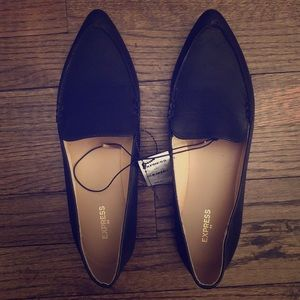 Black Express loafer flats